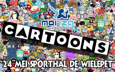 24 mei feestend het jubileumjaar uit met als thema: cartoons